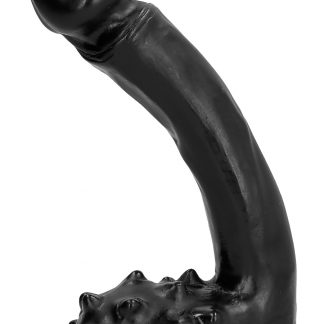 All Black: Dildo with Spiked Balls, 19 cm