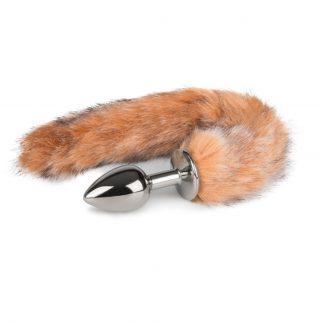 Fox Tail Plug No. 7 - Silver - Rävsvans Brunrandig