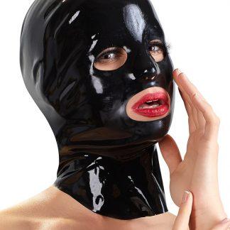 Late-X: Latex Mask Male, svart