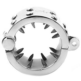 Triune: Kalis Teeth, Spiked Chastity Device, Stainless Steel, Large