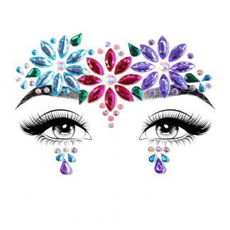 Dahlia Face Jewels Sticker
