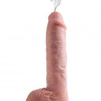 King Cock Squirting with Balls 27cm - Flesh