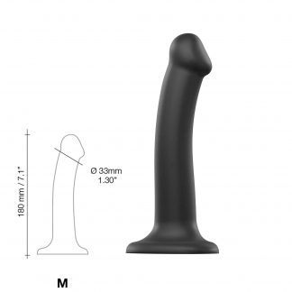Böjbar Dildo Dual Density Medium - 18 cm