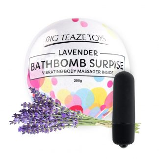 Bath Bomb Surprise with Vibrating Body Massager Lavender