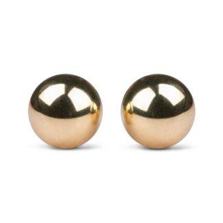 Gold ben wa balls - 25mm - Guldfärgade Knipkulor 129gr / set