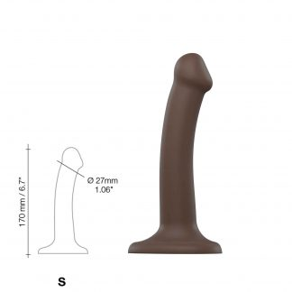 Böjbar Dildo Dual Density Small - 17 cm