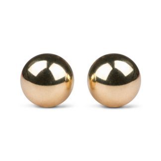 Gold ben wa balls - 22mm - Guldfärgade Knipkulor