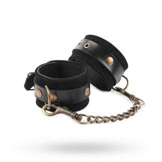& Restrain Me - Luxury Black Suede Wrist Cuffs