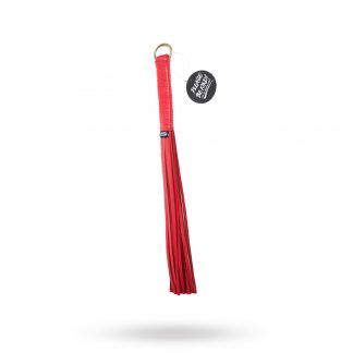 & Submit To Me Red Leather Flogger