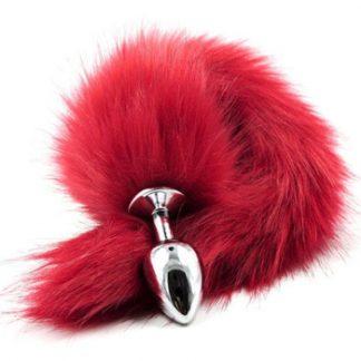 Fox Tail Plug Red